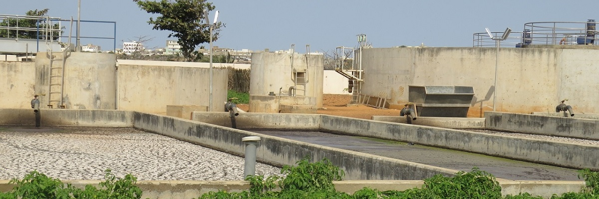 Treatment is integral to the fecal sludge management chain in Senegal. Photo Credit: ONAS Senegal