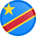 The flag of the Democratic Republic of Congo