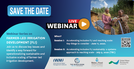 Webinar on farmer-led irrigation