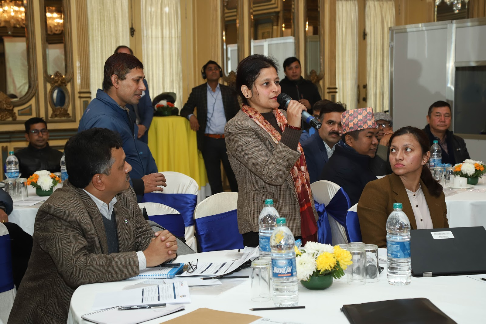 Staff from the Surkhet Valley Water Supply Users' Organization were among the participants in a USAID Business Plan Dissemination workshop in Kathmandu, in January 2020. Photo credit: Hari Neupane/WASH-FIN