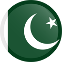 The flag of Pakistan
