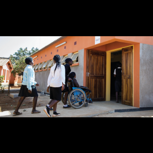 USAID supports accessible latrines at schools, like this one at Bauleni Special Needs School in Zambia, to help keep girls in school. Photo credit: Water and Development Alliance/Zambia