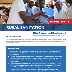 Rural Sanitation Technical Brief thumbnail