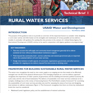Rural Water Service brief thumbnail