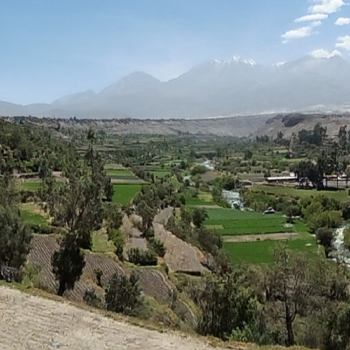 A view of the landscape of the Quilca-Chili watershed Photo credit: Cristina Portocarrero