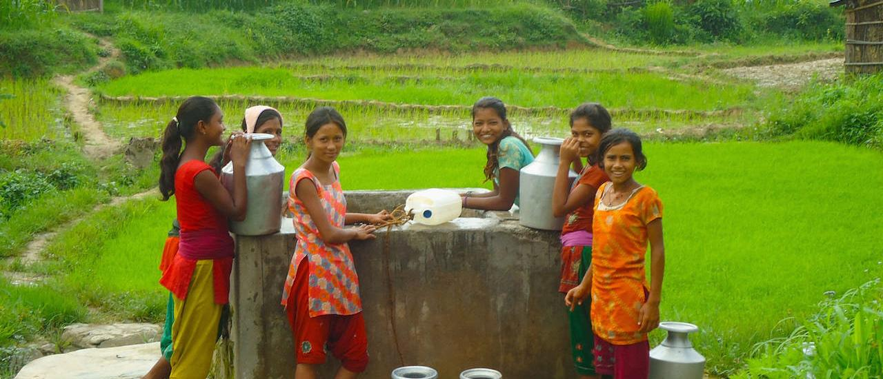 In the past, Nepalese girls like these would have been subject to the taboos of chhaupadi — not being allowed to use the family toilet or sleep in the family home during their menstrual period. Photo Credit: USAID/Nepal
