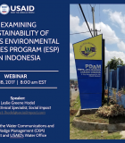 Webinar on the Sustainability of USAID/Indonesia's Urban Water Utility Services Activities