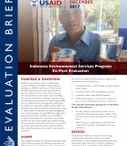 Indonesia Environmental Services Program Ex-Post Evaluation Brief