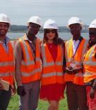 Journalists learn about how Uganda's Bujagali Dam produces power for the region. Credit: Mohammed Wadie