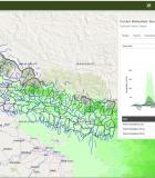 An example of a water resource assessment image from Nepal. Credit: NASA