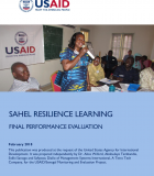 Sahel Resilience Learning (SAREL): Final Performance Evaluation