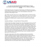 USAID Report to Congress on the Design and Implementation of Programs in Water, Sanitation, and Hygiene (WASH)