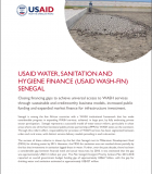 USAID's WASH-FIN Senegal