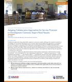 SWS brief: Adapting Collaborative Approaches for Service Provision to Development Contexts: Expert Panel Results