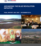 Advancing the Blue Revolution Initiative: Final Report – May 2007-September 2010