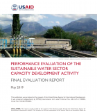 Performance Evaluation of the Sustainable Water Sector Capacity Development Activity: Final Evaluation Report