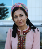 Lyale Orazova in Mary, Turkmenistan, June 2019. Photo credit: Petro Kotzé