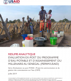 Evaluation Ex-Post du Programme d'Eau Potable et d'Assainissement du Millenaire au Senegal (PEPAM/USAID)