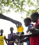 USAID and its partners help communities in South Sudan to form Care Groups to teach them about essential hygiene and health behaviors to prevent disease. Photo credit: UNICEF/Kate Holt