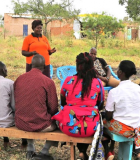 Catherine Nyaka, the chairperson of the Ivingoni Community, addresses her group members. Photo credit: Mercy Mgube/KIWASH