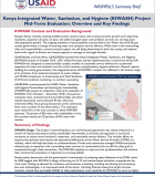 Kenya Integrated Water, Sanitation, and Hygiene (KIWASH) Project Mid-Term Evaluation: Overview and Key Findings