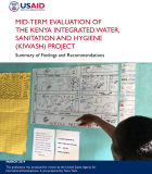 Mid-term Evaluation of the Kenya Integrated Water, Sanitation and Hygiene (KIWASH) Project: Summary of Findings and Recommendations