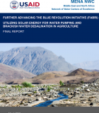 Utilizing Solar Energy for Water Pumping and Brackish Water Desalination in Agriculture - Final Report