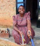 Merab Namiwanda with her plumbing tools. Photo credit: Dorothy Nabatanzi