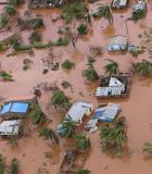 An overhead view of Buzi, Mozambique, shows the devastation caused by Cyclone Idai. Photo credit: Adrien Barbier, AFP
