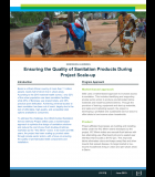 PSI - Ensuring the Quality of Sanitation Products During Project Scale-up