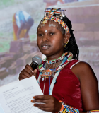 The Ripple Effect Study illuminates the critical intersection between women and water, enabling a greater understanding of the pathways to empowerment. Photo credit: Thomas Henriksson/SIWI; Speaker: Eliza Lasale, WASH Entrepreneur, Young Water Solutions
