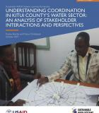 Understanding Coordination in Kitui County's Water Sector: An Analysis of Stakeholder Interactions and Perspectives