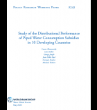 Study of the Distributional Performance of Piped Water Consumption Subsidies in 10 Developing Countries