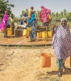 When local water agencies have data about water use, they are better able to maintain access to safe water for families in their communities. Photo credit: Ezra Millstein/Mercy Corps