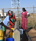 Solar-powered pumps deliver reliable water access in South Sudan. Photo credit: Victor Lugala, USAID/South Sudan