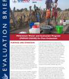 Brief: Millennium Water and Sanitation Program (PEPAM/USAID) Ex-Post Evaluation