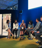 Gap Inc. and USAID led a panel discussion on August 28, 2019, at World Water Week with implementing partners from the Women + Water Alliance (W+W Alliance)—WaterAid, Water.org, CARE India, and the Institute for Sustainable Communities. Photo credit: Gap Inc.