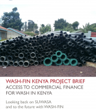 WASH-FIN Kenya Project Brief – Access to Commercial Finance for WASH in Kenya
