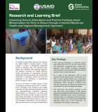 Research and Learning Brief Improving School Attendance and Positive Feelings about Menstruation for Girls in Ghana through a Holistic Menstrual Health and Hygiene Management Approach