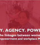 Webinar Slides for Dignity, Agency, Power: Exploring the Linkages Between Women's Economic Empowerment and Workplace MHM
