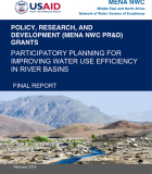 Participatory Planning for Improving Water Use Efficiency in River Basins