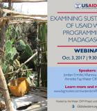 Webinar: Examining Sustainability of USAID WASH Programming in Madagascar