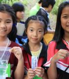 In Thailand, the USAID-funded Lower Emissions in Asia Forests Project taught students in Chiang Mai about the importance of river ecosystems. Photo credit: Somsak Soonthornnawaphat
