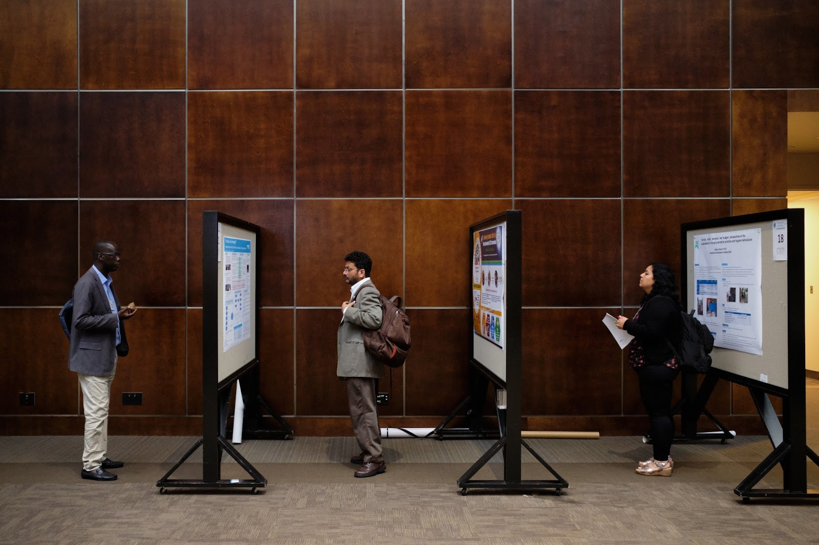 Poster sessions took place virtually at this year's Water and Health Conference. Photo credit: UNC Water Institute